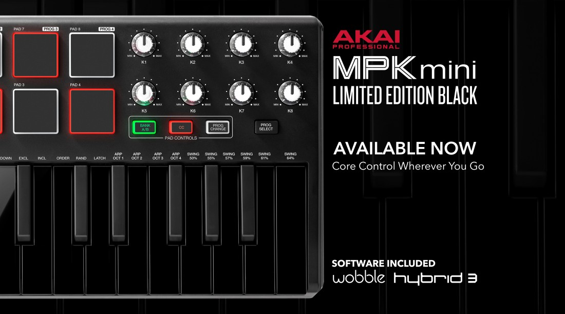 Akai MPK mini limited edition black